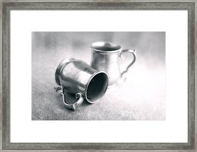 Pewter Tankards Still Life Framed Print by Tom Mc Nemar