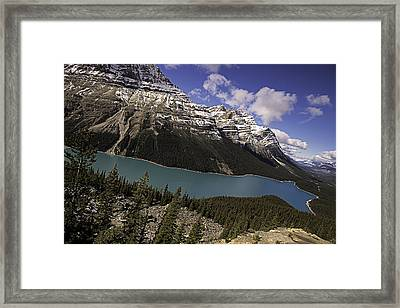 Framed Print featuring the photograph Peyto Lake by John Gilbert