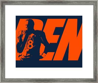 Peyton Manning City Name Framed Print by Joe Hamilton