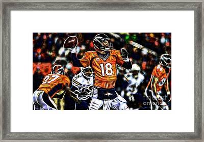 Peyton Manning Collection Framed Print