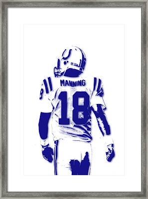 Peyton Manning Colts 2 Framed Print by Joe Hamilton