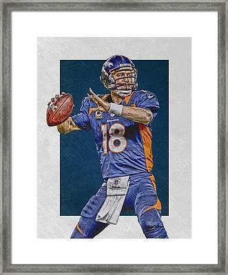 Peyton Manning Denver Broncos Art 2 Framed Print