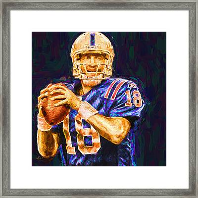 Peyton Manning Indianapolis Colts Nfl Football Painting Digital Framed Print