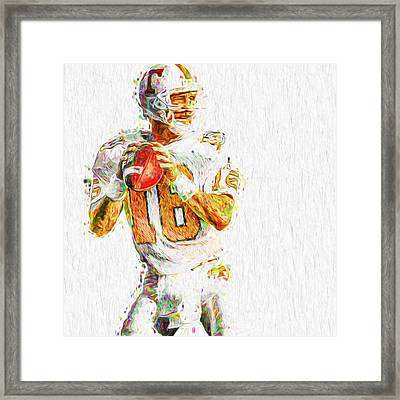 Peyton Manning Nfl Football Painting Tv Framed Print