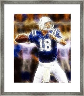 Peyton Manning Framed Print by Paul Ward