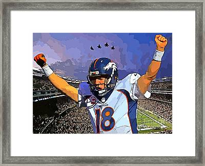 Peyton Manning Super Bowl Great  Framed Print by John Malone