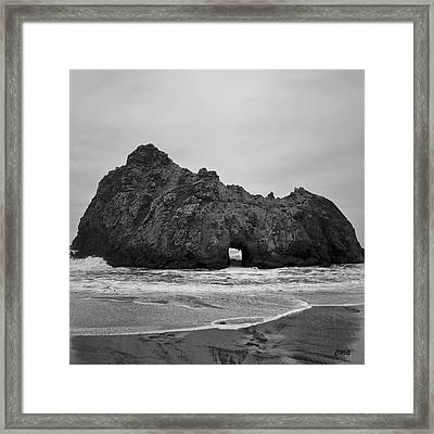 Pfeiffer Beach II Bw Framed Print