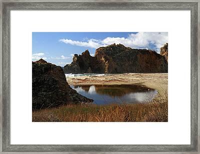 Pfeiffer Beach Landscape In Big Sur Framed Print by Pierre Leclerc Photography