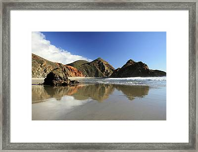 Pfeiffer Beach Reflection Framed Print by Pierre Leclerc Photography