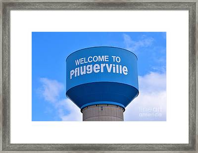 Pflugerville Texas - Water Tower Framed Print