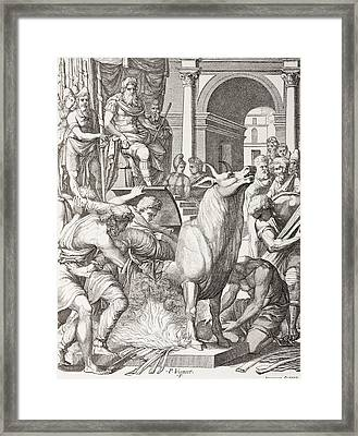 Phalaris The Tyrant Of Acragas Framed Print by Vintage Design Pics