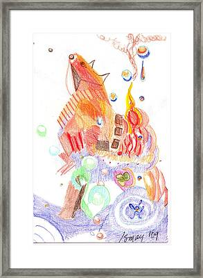 Phantasy On Trojan Horse Framed Print by Rod Ismay