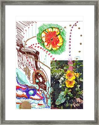 Phantasy On Yellow Hibiscus Framed Print by Rod Ismay