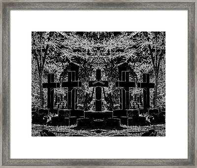 Phantom Of The Cemetery Framed Print