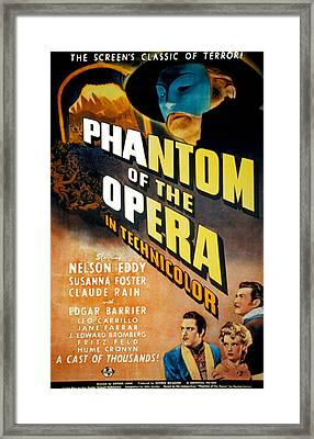 Phantom Of The Opera, Claude Rains Framed Print by Everett