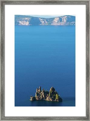 Phantom Ship Island Crater Lake National Park Oregon 2 Framed Print