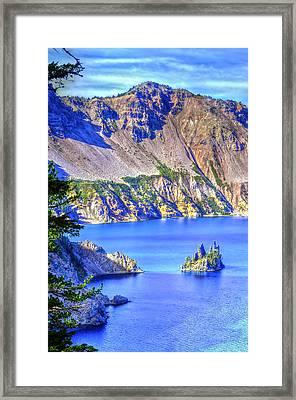 Phantom Ship Island Framed Print