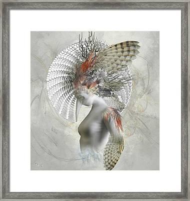 Phantom Wings Framed Print by Ali Oppy