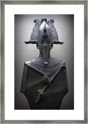 Pharaoh Of Egypt Framed Print by Daniel Hagerman
