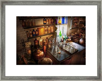 Pharmacist - A Little Bit Of Witch Craft Framed Print by Mike Savad