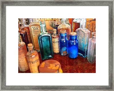 Pharmacist - Medicine Cabinet  Framed Print by Mike Savad