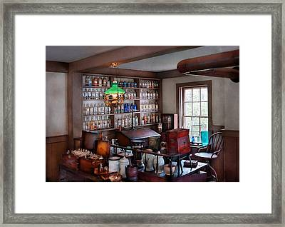 Pharmacist - Pharmacist From The 1880's  Framed Print by Mike Savad