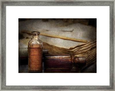 Pharmacist - Specific Medicines  Framed Print by Mike Savad