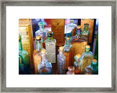 Pharmacist - Liniment And Balms Framed Print