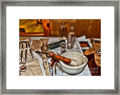 Pharmacist - Mortar And Pestle Framed Print by Paul Ward