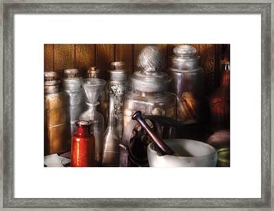 Pharmacist - Tools Of The Pharmacist  Framed Print by Mike Savad