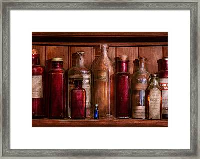 Pharmacy - From Antacids To Antiseptics Framed Print by Mike Savad