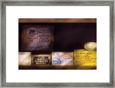 Pharmacy - Medicine - Blood Purifiers  Framed Print
