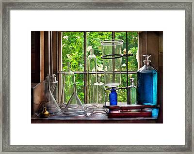 Pharmacy - Pharmaceuti-tools Framed Print by Mike Savad