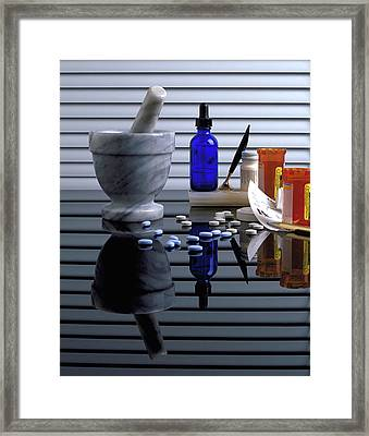 Pharmacy  Framed Print by Marie Hicks