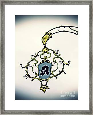Pharmacy Sign In Wiesbaden      Framed Print by Sarah Loft