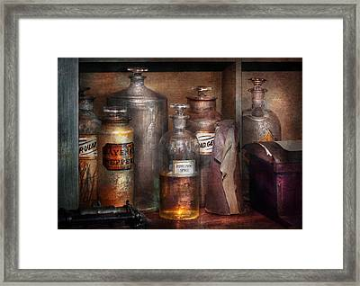 Pharmacy - That's The Spirit Framed Print by Mike Savad