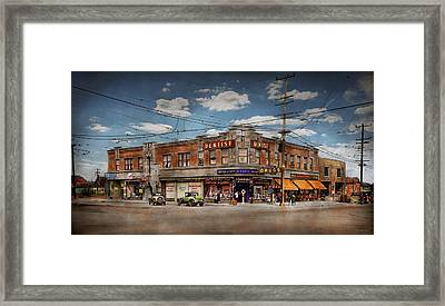 Framed Print featuring the photograph Pharmacy - The Corner Drugstore 1910 by Mike Savad