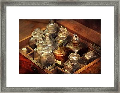 Pharmacy - The Traveling Case Framed Print