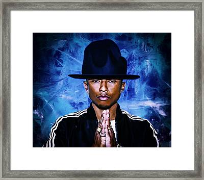 Pharrell Williams Happy II Framed Print by Brian Reaves