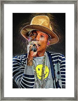 Pharrell Williams Framed Print