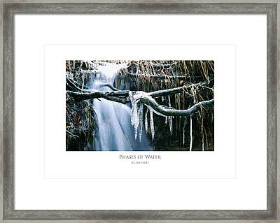 Framed Print featuring the digital art Phases Of Water by Julian Perry