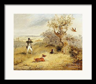 Dog Retrieving Framed Prints