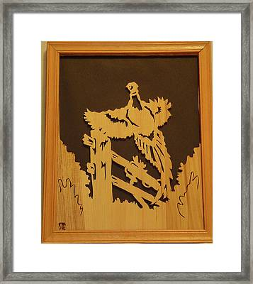 Pheasant Taking Off Framed Print by Russell Ellingsworth