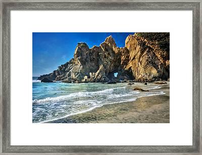 Pheiffer Beach #6 - Big Sur California Framed Print
