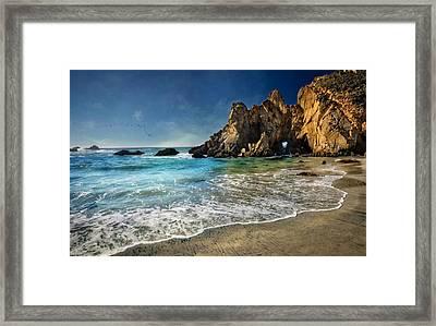 Pheiffer Beach #9- Big Sur California Framed Print by Jennifer Rondinelli Reilly - Fine Art Photography