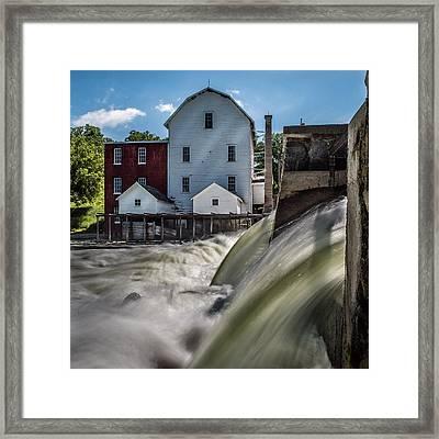 Phelps Mill Falls Framed Print by Paul Freidlund