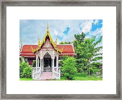 Phetchaburi Temple Framed Print