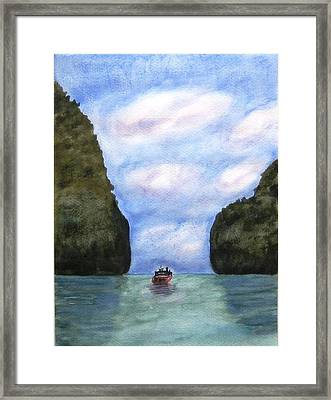 Phi Phi Islands Framed Print by Monika Deo