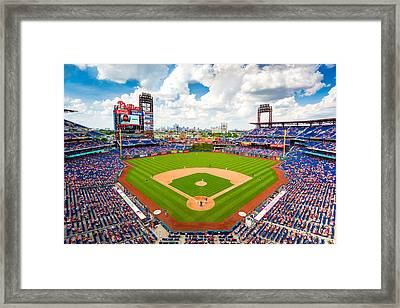 Philadelphia Phillies Framed Print by Aaron Couture
