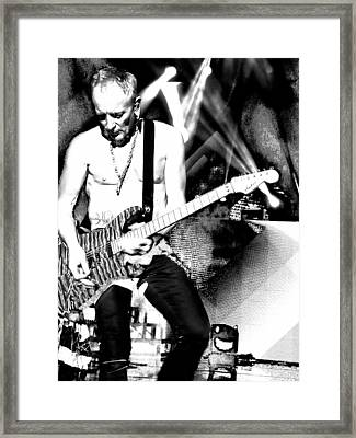 Phil Collen Of Def Leppard 4 Framed Print by David Patterson